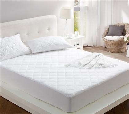 100 Cotton Filled College Mattress Pad Twin Xl College Dorm Bedding In 2020 Mattress Cotton Mattress Dorm Bedding