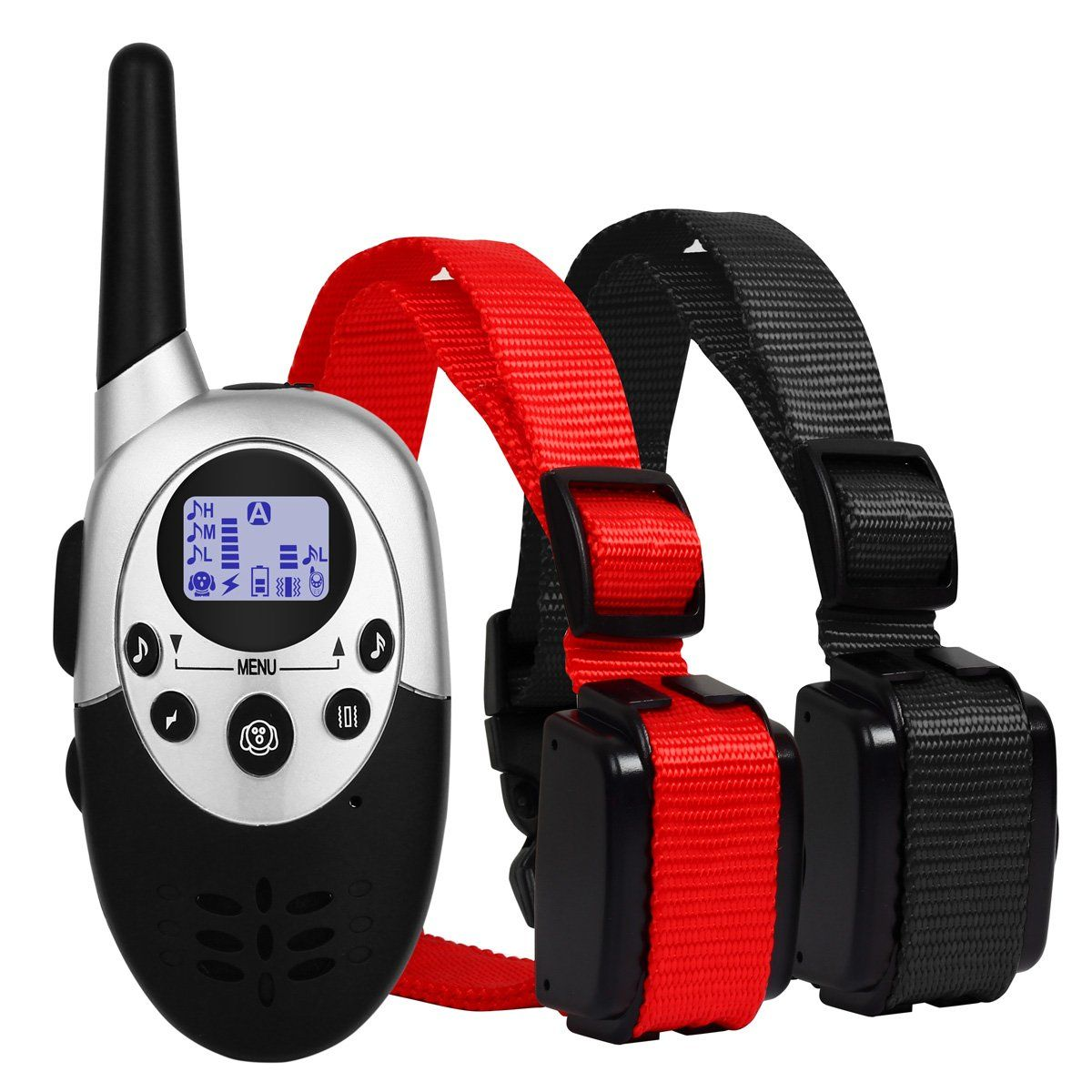 Dog Shock Training Collar For 2 Dogs 3000 Feet Long Range Remote