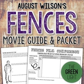 Fences Movie Worksheets Play Film Comparison Activity