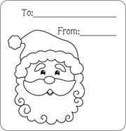 Christmas gift tags to color free printable gift tags for kids to christmas gift tags to color free printable gift tags for kids to color santa negle Images