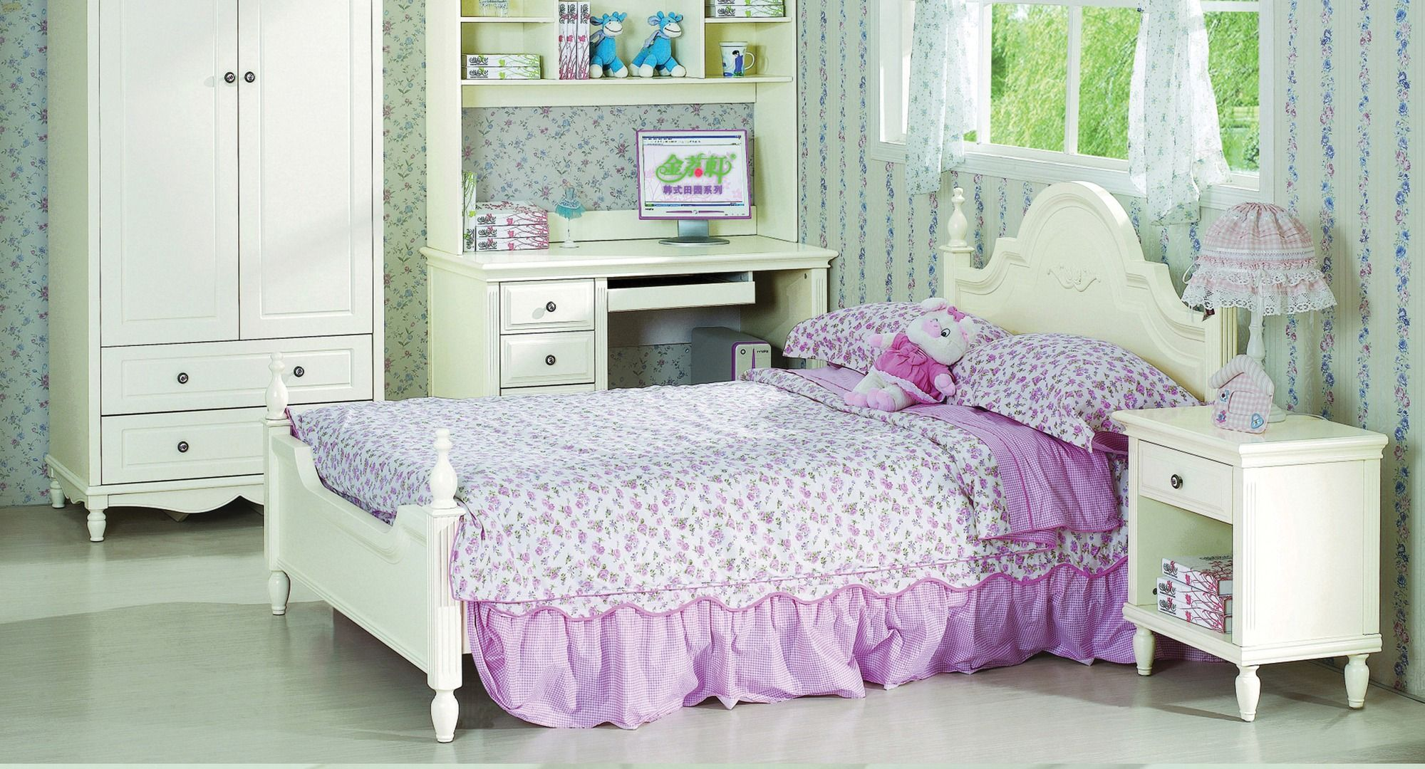 White Lotus French Style King Single Bed Bay Street King