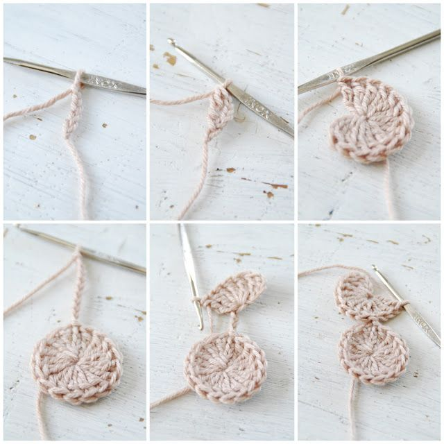Crochet circles in row. A very beautiful blog from Norway.