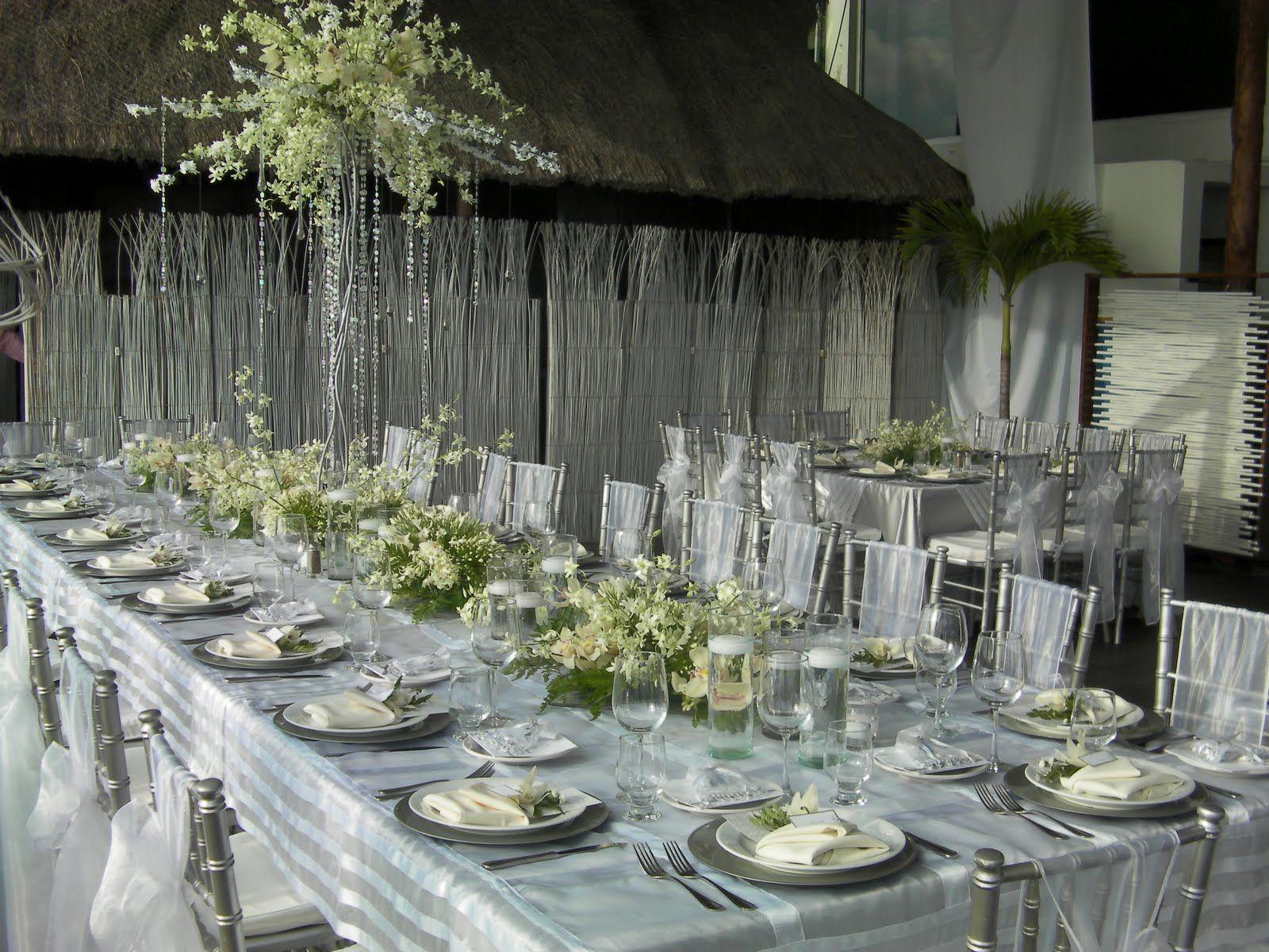 Decoracion matrimonio plateado buscar con google bodas boda bodas de plata y decoracion bodas - Decoraciones en color plata ...