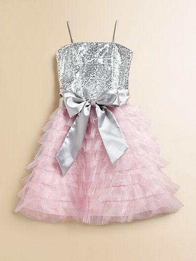 Un Deux Trois - Girl's Ruffled Sequin Dress -