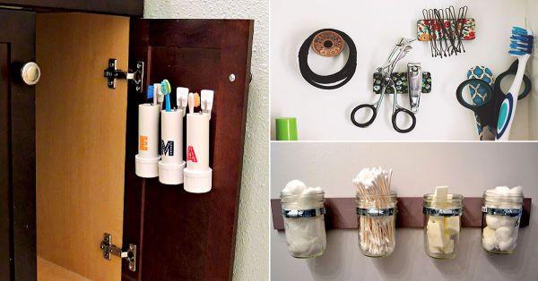 11 ideas para aprovechar el espacio en ba os peque os for Ideas creativas para el hogar