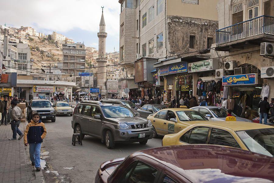 A Street Scene In Amman, Jordan, by Taylor S. Kennedy Steden