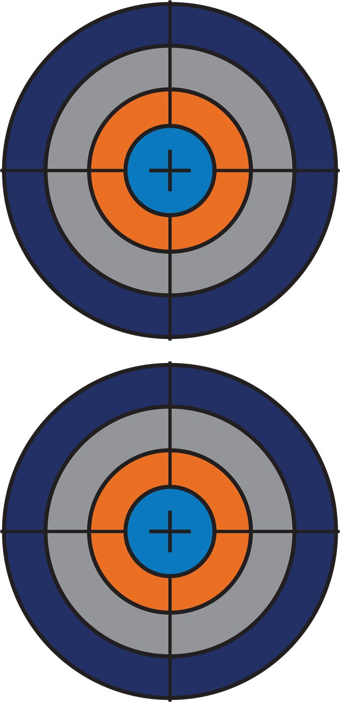 Clean image within printable nerf targets