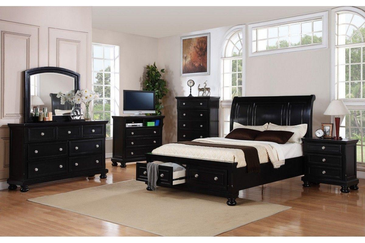 Bedroom Sets Peter Black Queen Set Newlotsfurniture Furniture Raya King Bedroom Sets Bedroom Sets Furniture Queen Black Bedroom Furniture Set Black queen bedroom set