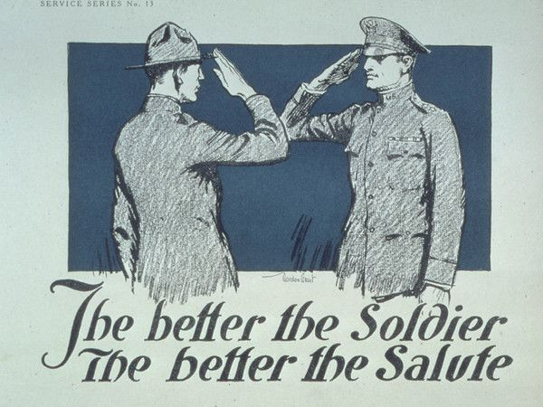 #WWI War #Poster. The Better the Soldier - The Better the Salute. $12.99+. On VintPrint.com.
