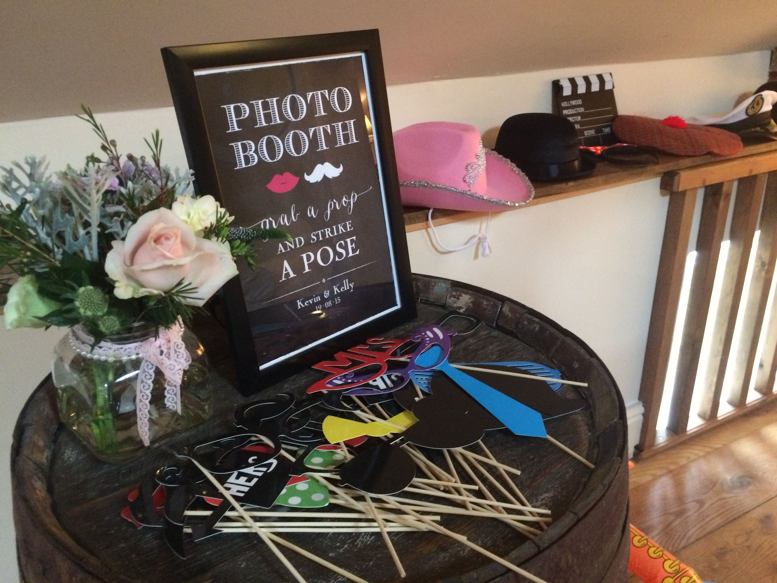 Diy photo booth at glangrwyney court buy a few props