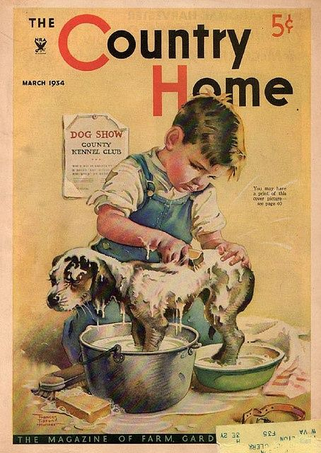 Vintage Magazine - Country Home March - 1954 - Preparing for the dog show.
