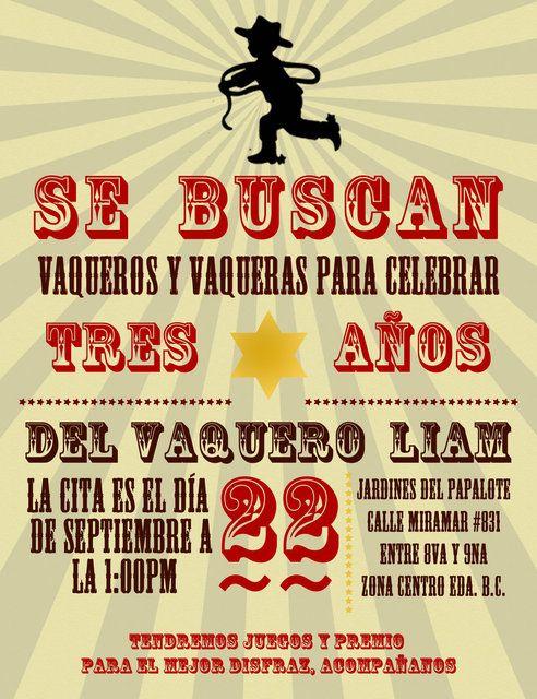 Invitation Invitations Fiestas Temáticas Vaqueras