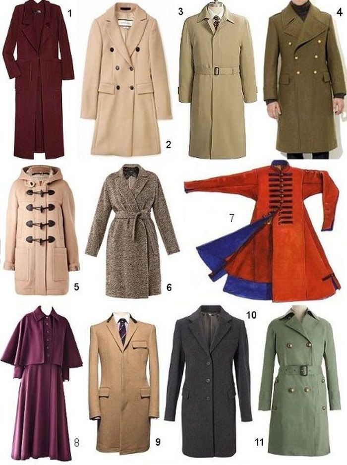 Шпаргалка для девушек Узнай, как называется твое пальто! Все возможные виды  этой замечательной верхней 07b0dce9b0e