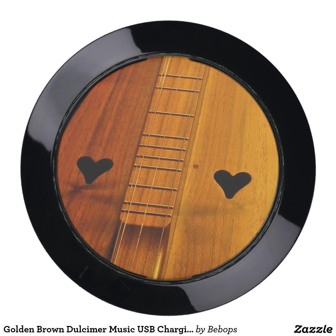 Golden Brown #Dulcimer Music USB Charging Station @bebopsplace