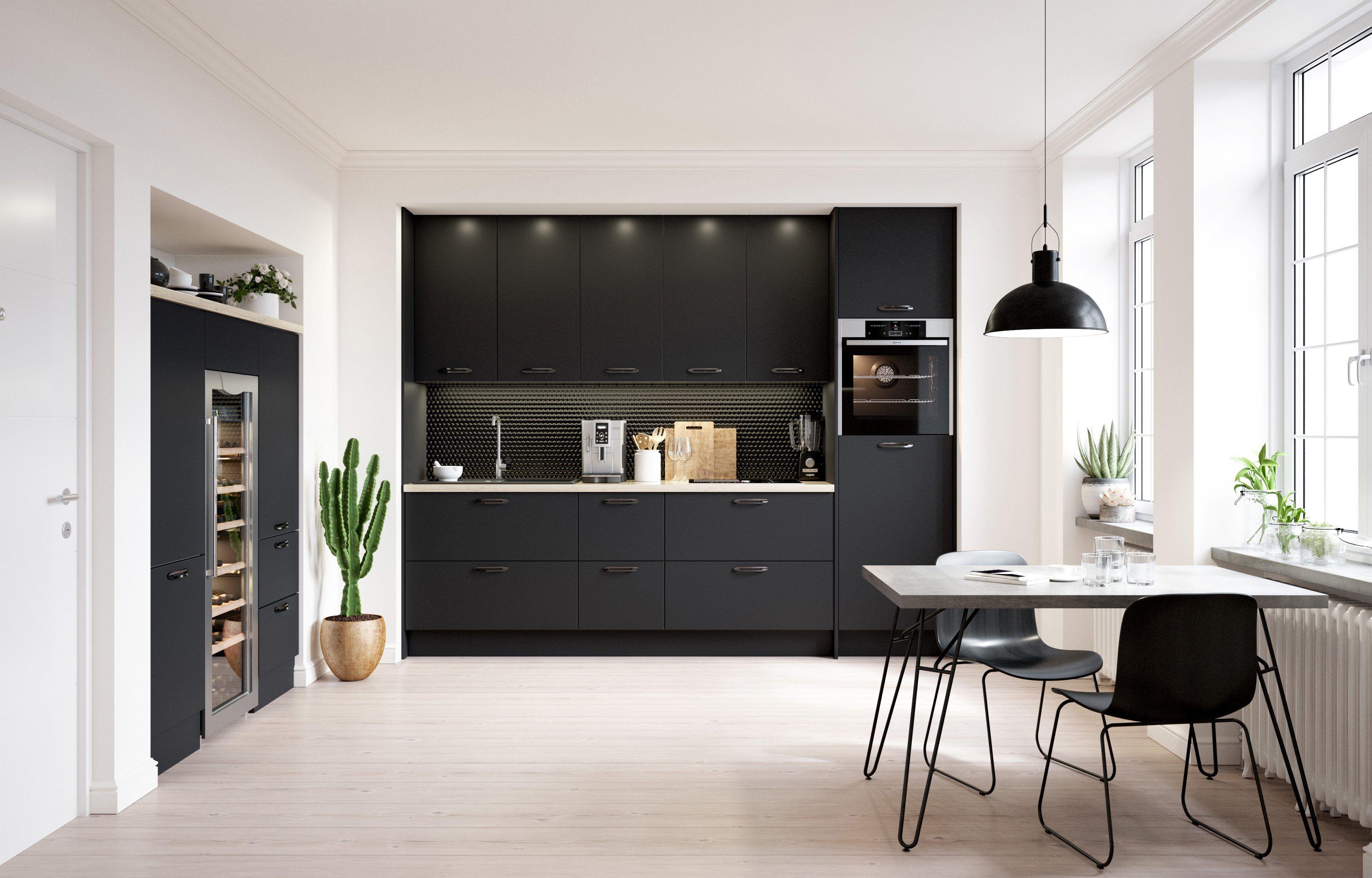 Idée de cuisine, la cuisine TEMOE noire pour un intérieur chic et ...
