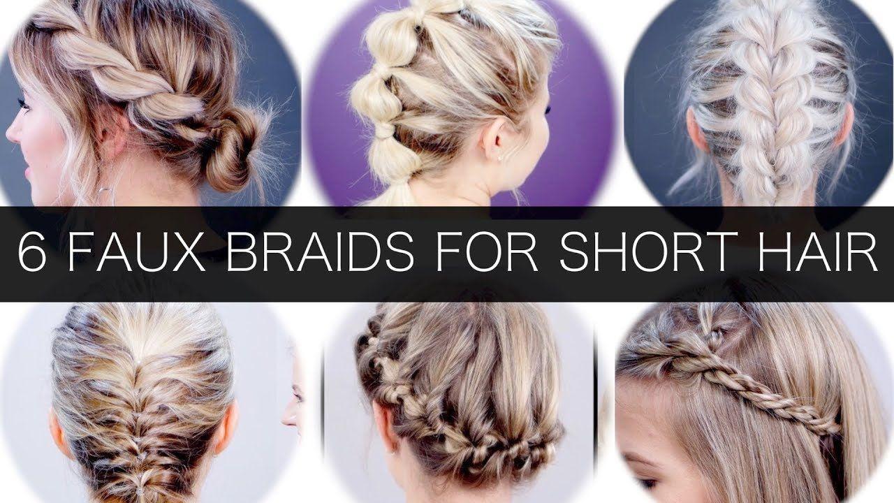 6 Different Faux Braids For Short Hair Milabu Youtube Braids For Short Hair Cool Braid Hairstyles Braided Hairstyles
