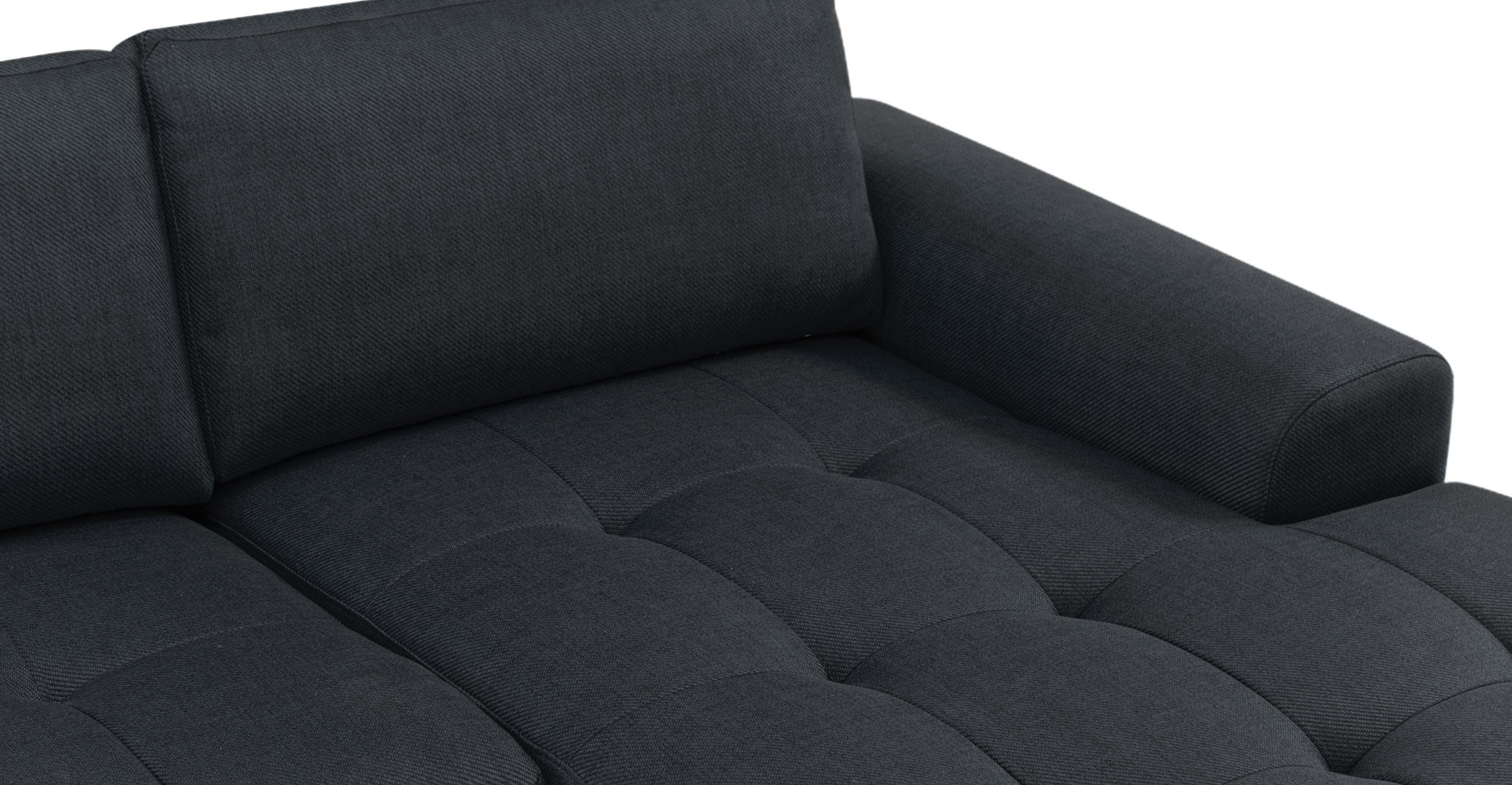 Vittorio Right Hand Facing Corner Sofa Group in anthracite grey | made.com