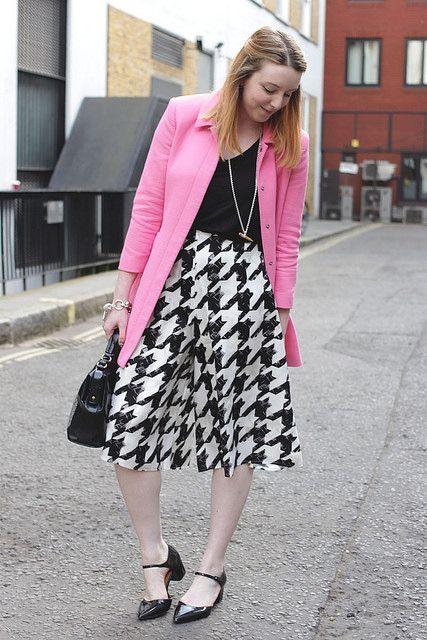 Monochrome culottes   www.bumpkinbetty.com   #fashion #pink #style