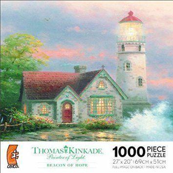 THOMAS KINKADE Painter of Light Christmas jigsaw puzzles are cute