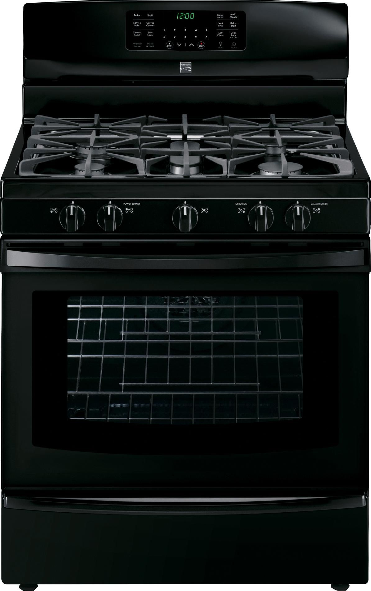 Kenmore Gas Range 74339 5.6 cu. ft. Convection Oven and 5 Sealed Burners in  Black