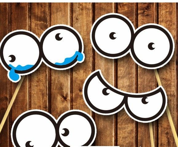 4 Diffe Round Eyes Diy Photo Booth Props Wedding Party