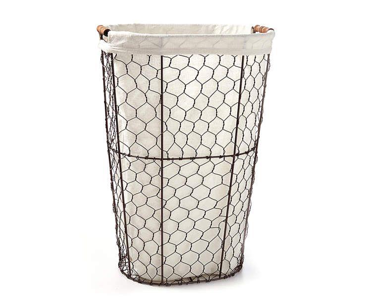 Home Essentials Chicken Wire Oval Hamper Big Lots In 2020 Wire