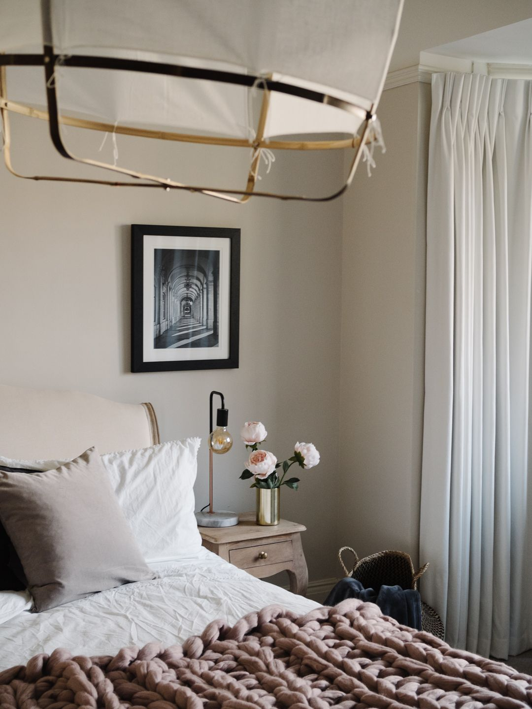 Creating a minimal luxe bedroom with Hillarys Luxe