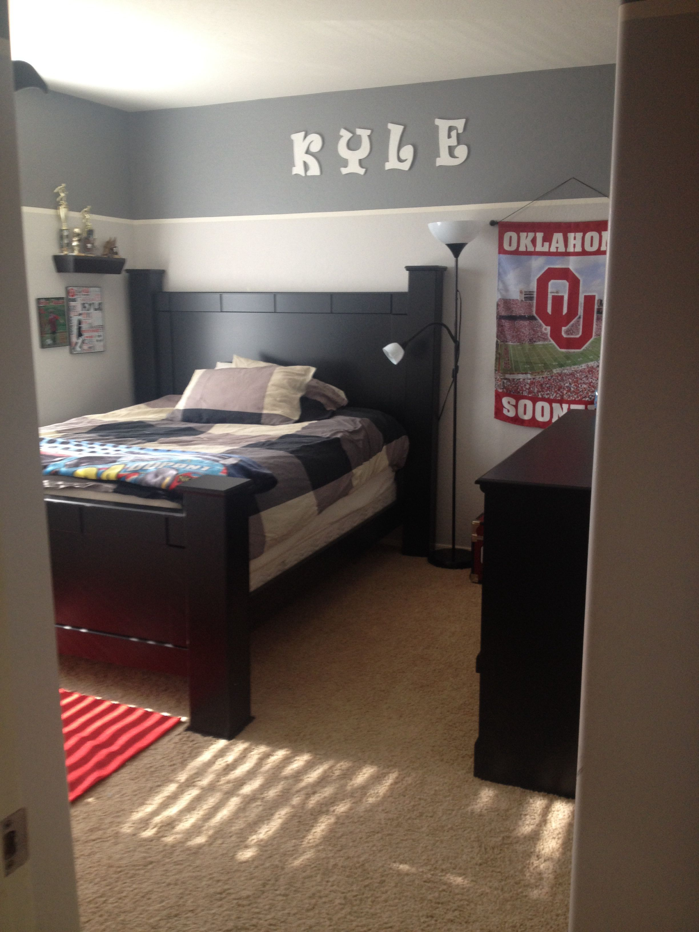 Teen Boys Room Ideas Boys Room Love The High Two Tone Kids Room Ideas