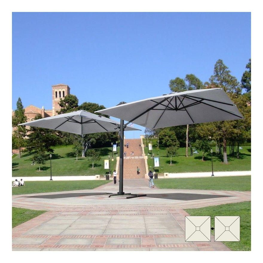Cafe Jardin Decorative Mat: Parasol De Jardin 3x3 Bras Double Mât Double En Aluminium