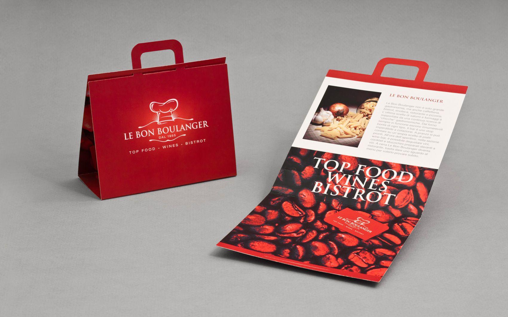 Visual Identity For Food Store Bistro In Rome 2010 Unique Brochure Design Custom Brochures Unique Brochures