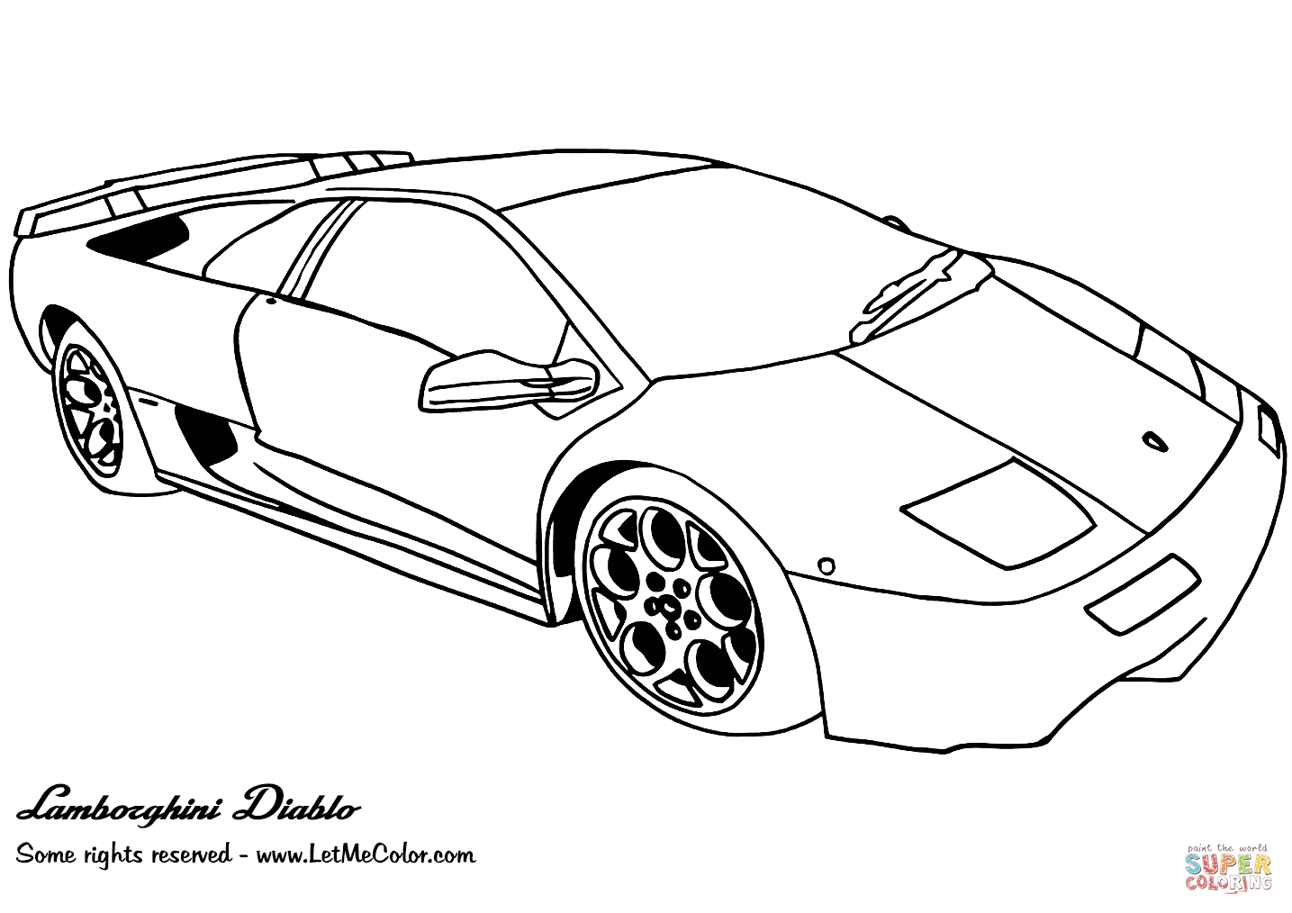 Lamborghini Diablo Coloring Pages