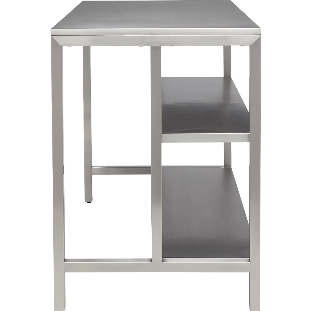 Coterie Stainless Steel Kitchen Cart Reviews Cb2 Catalog