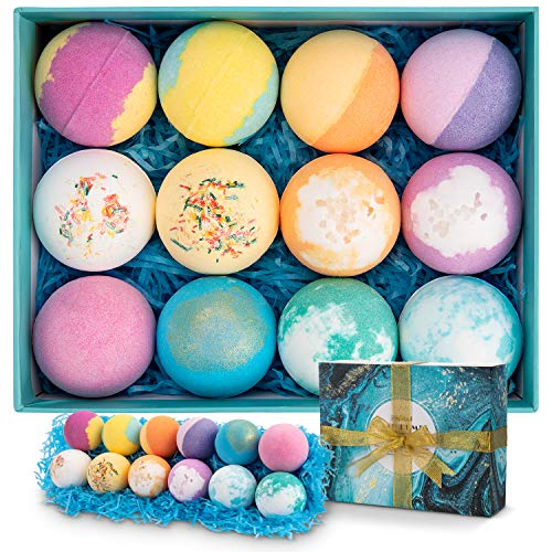 Bath Bombs 12 Pcs Gift Set Ribivaul Handmade Natural Best Offer Luxclout Com In 2020 Bath Bomb Gift Sets Organic Bath Products Organic Bath Bombs