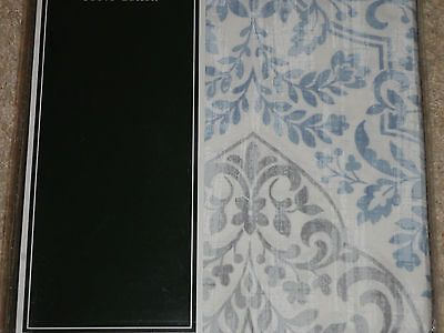 Laura Ashley WINCHESTER Blue Gray White DAMASK Shower Curtain NEW Paisley  Fleur