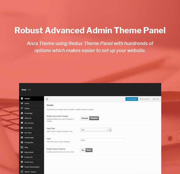 Anza One Page Parallax Multipurpose WordPress Theme | Pinterest