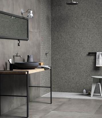 Powder Fliesen für das Bad Gestaltungsideen mit Keramik und - badezimmer fliesen grau
