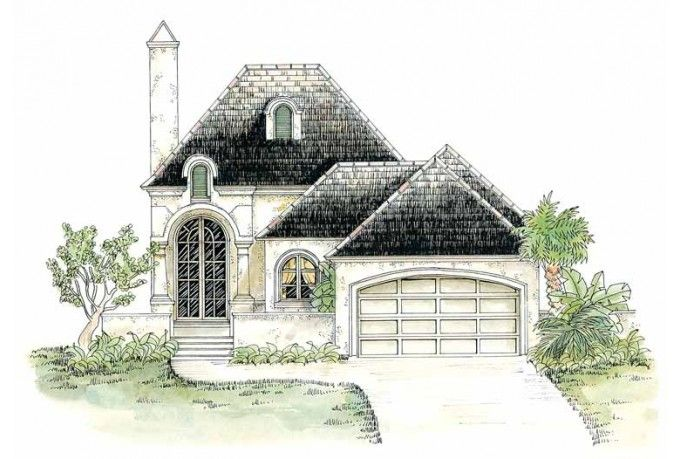 Small French Country House Plans | Here To Mirror Reverse Plan Mirror  Reverse Surcharge: $50 House Plans ... | Elements Building Home | Pinterest  | French ...