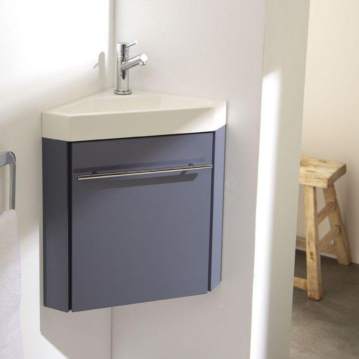 Lave-mains d\u0027angle complet avec meuble couleur gris souris Studio
