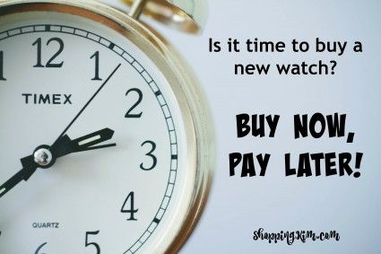 Time To Buy A Watch Buy Now Pay Later Bulova and Gold jewellery