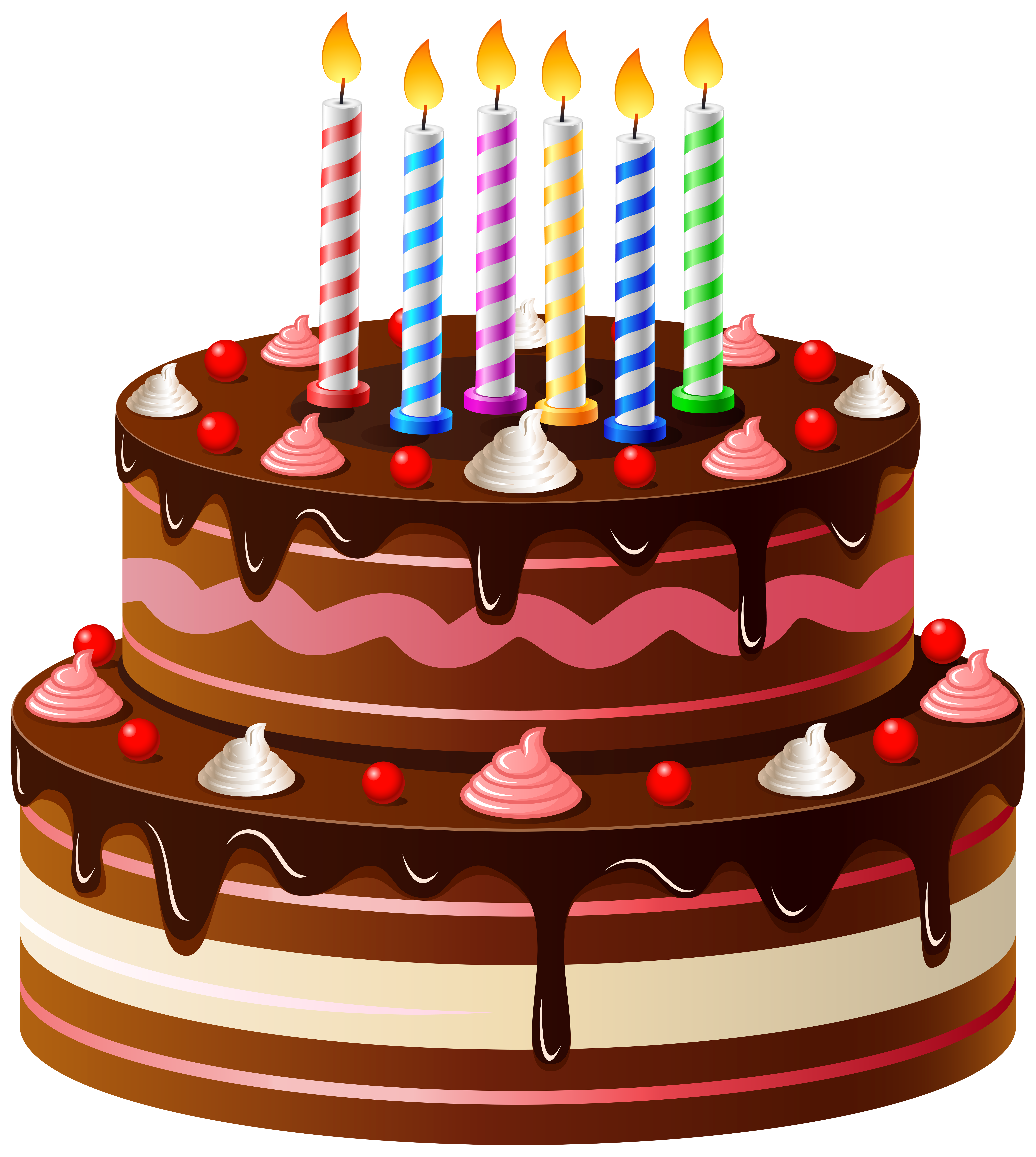 Birthday Cake PNG Clip Art (With images) Colorful