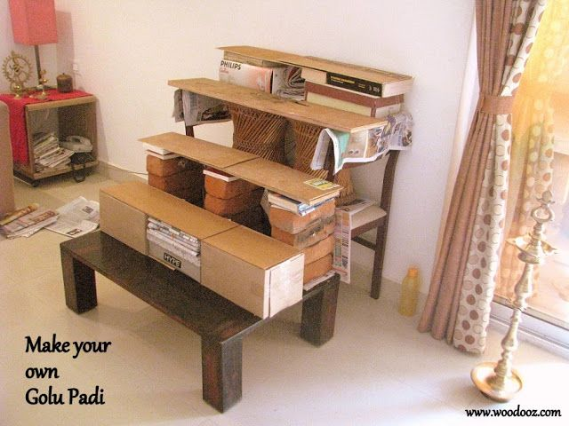 Do it yourself Golu steps GOLU 2014 Indian room decor