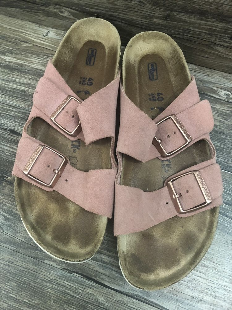 d423064ef3f1 Birkenstock Aeizona Sandals Sz 40 Blush Pink 19Q