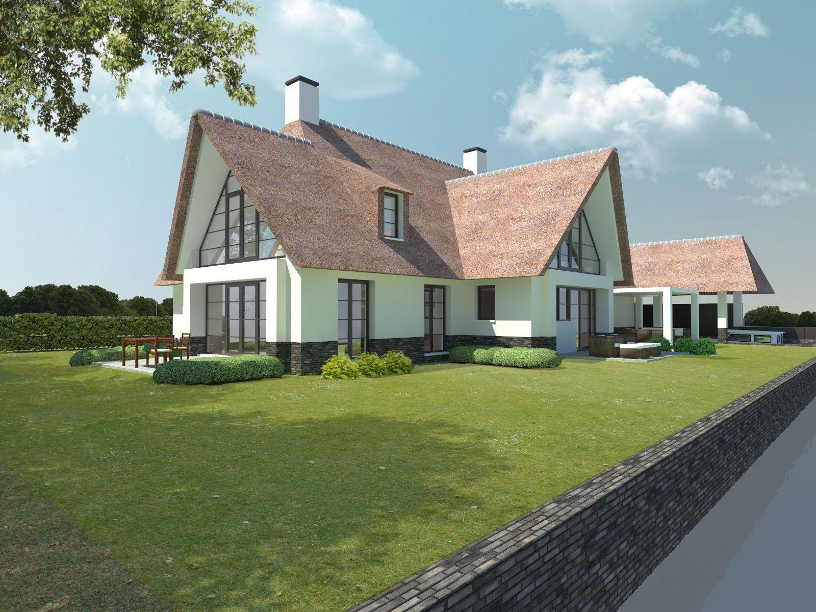 Modern huis rietgedekt | Häuser | Pinterest | Haustypen ...