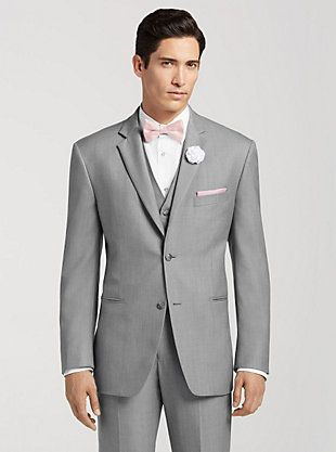 Pronto Uomo Gray Notch Lapel Suit | Groomsman Wear | Pinterest ...