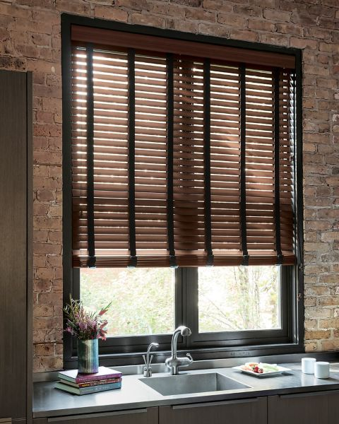 2 Durawood Blinds W Fabric Tape