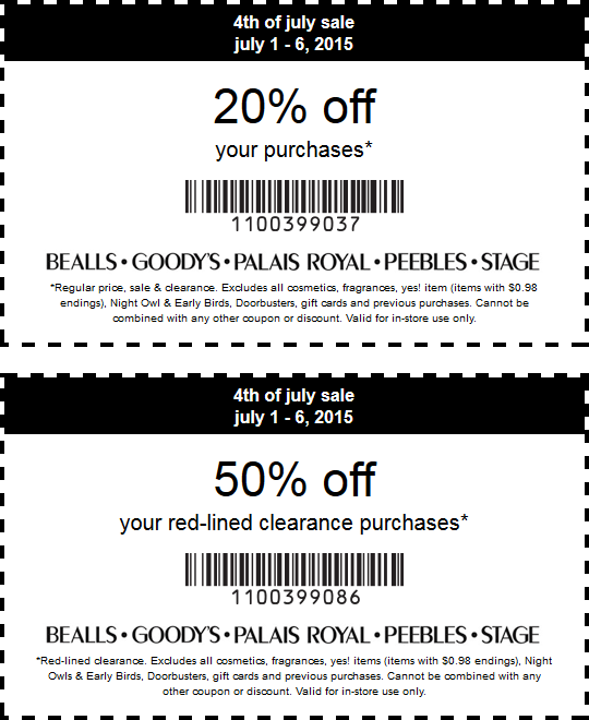 graphic regarding Goodys Printable Coupons referred to as Pinned July 5th: 20% off every month 50% off clearance at