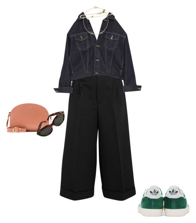 """""""buscando huellas"""" by jackthelad ❤ liked on Polyvore featuring Golden Goose, A.P.C., Yves Saint Laurent and adidas Originals"""
