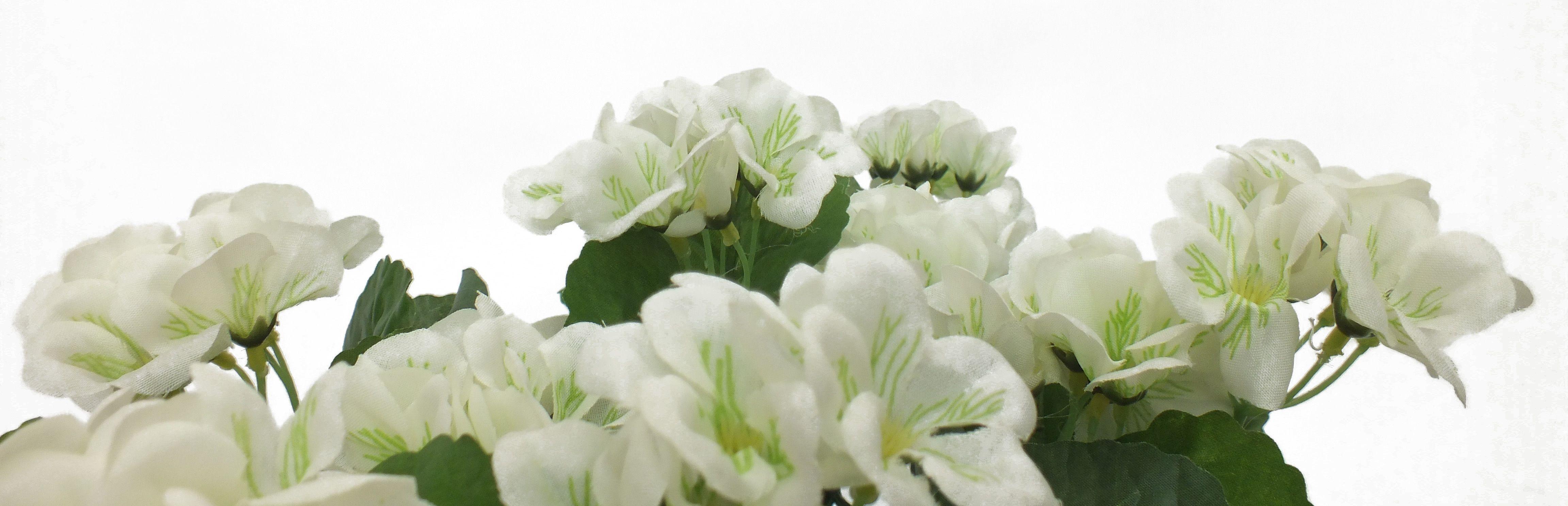 Artificial Geranium Flower Box