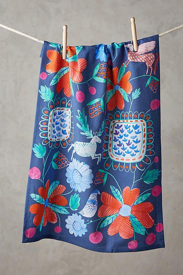 Middle English Tea Towel Illustrated tea towels, Tea