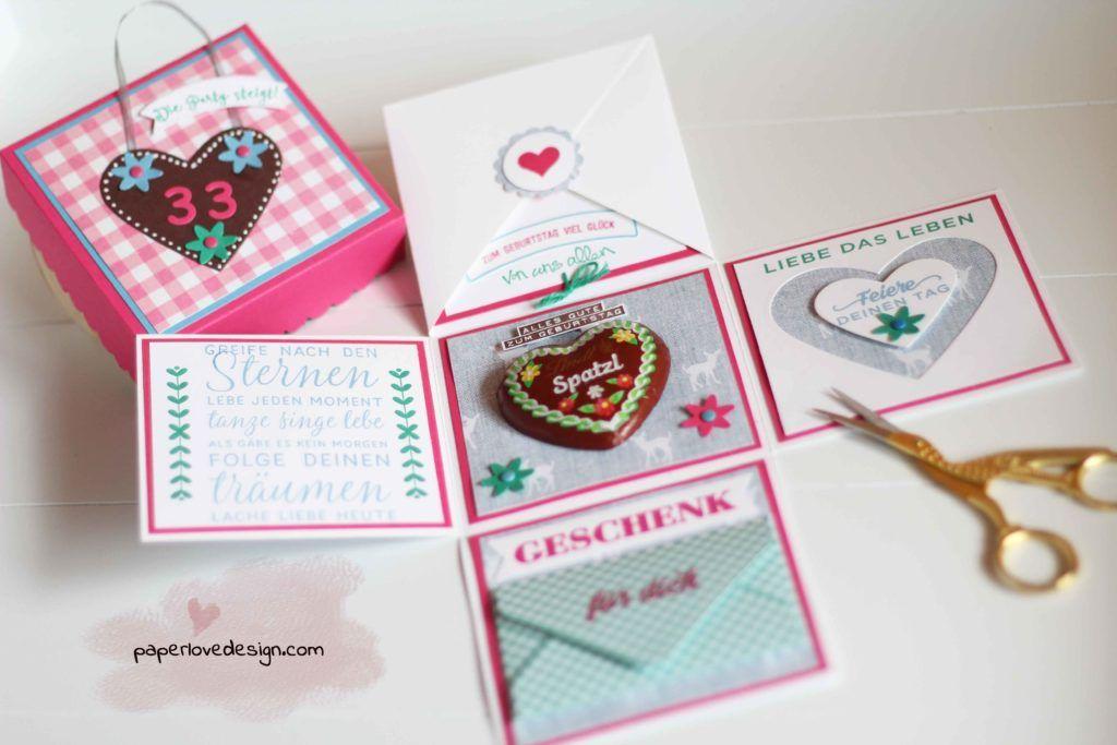 Explosionsbox Bayerisch Geldgeschenk Furs Dirndl Paperlovedesign Com Geschenke Bayerische Geschenke Explosionsbox